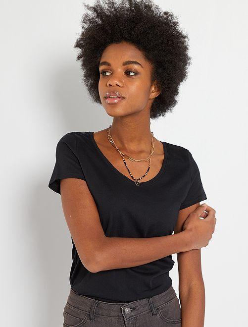 Basic T-shirt 'Ecodesign'                                                                                                                 zwart