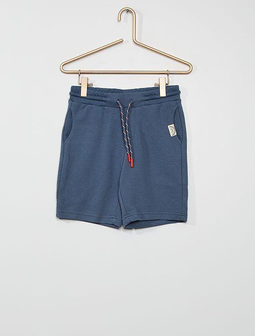 Bermuda van tricot                                                     BLAUW