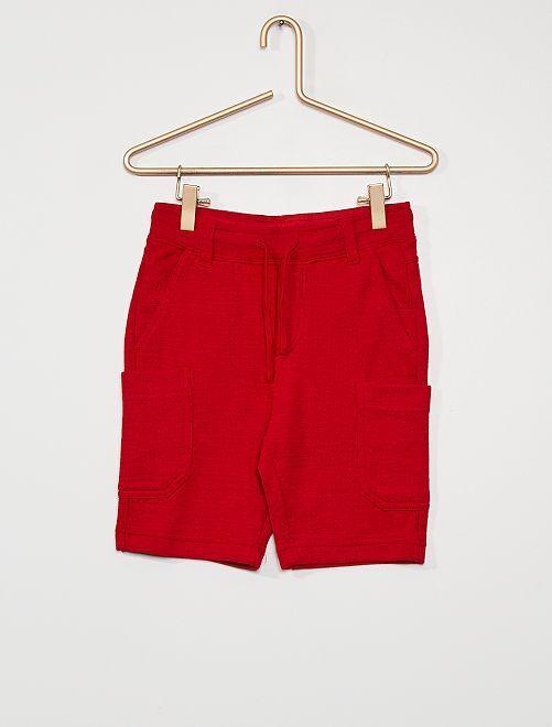 Bermuda van tricot                                                     rood