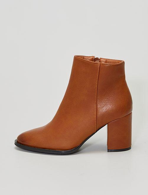 Boots met hak                             khaki