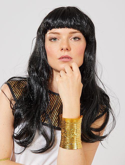 Brede Egyptische armband                             goudkleur