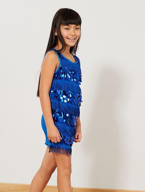 Charleston-verkleedkostuum voor meisjes                                                                 blauw