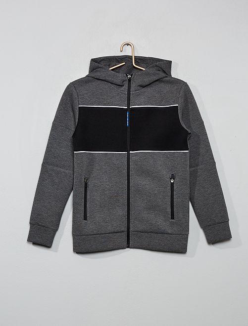 Colorblock sweater                                                     GRIJS