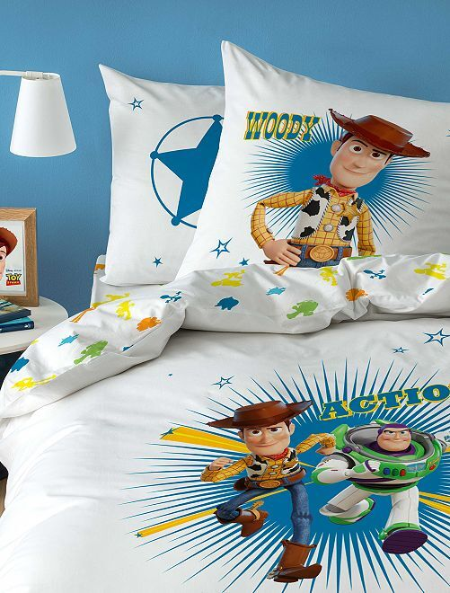 Dekbedovertrekset van 'Toy Story'                             wit
