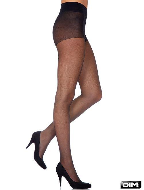 'Diam's Voile Galbé' panty van 'Dim'                             zwart Lingerie maat s-xxl