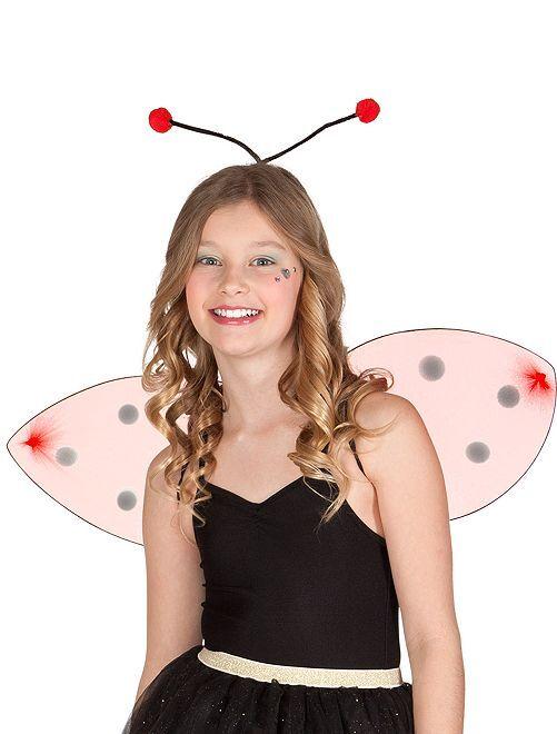 Dierenset met vleugels en haarband                             rood Dames