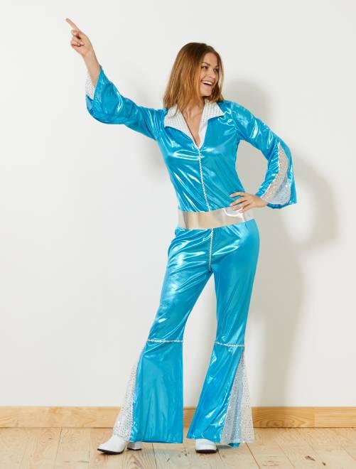 Disco verkleedkostuum                             blauw Dames