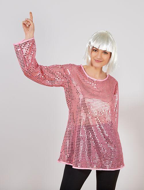 Disco verkleedkostuum                                                     roze Dames