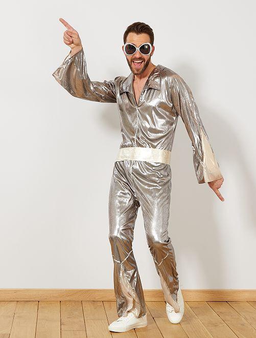 Disco verkleedkostuum                             zilver