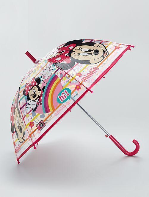 Doorzichtige paraplu met 'Minnie'-print                             roze