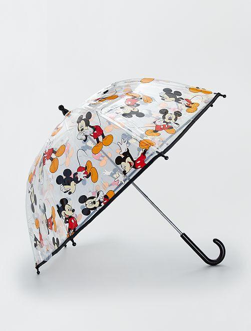 Doorzichtige paraplu 'Mickey'                             ZWART