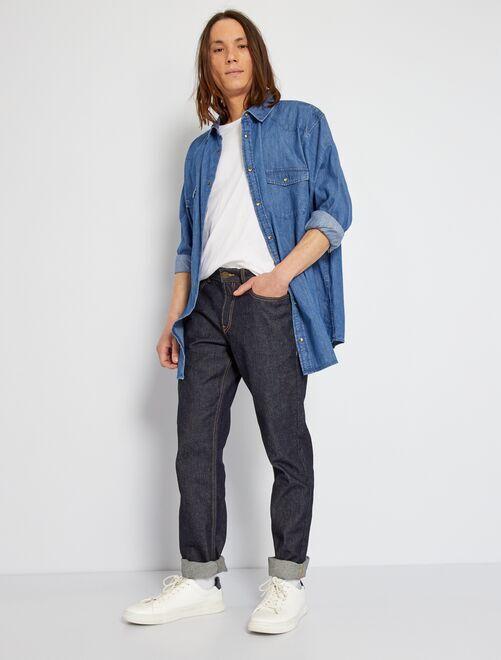 Ecologisch ontworpen, regular-fit, raw jeans                             raw denim