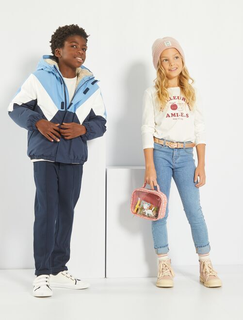 Ecologisch ontworpen, skinny-fit jeans                                         BLAUW