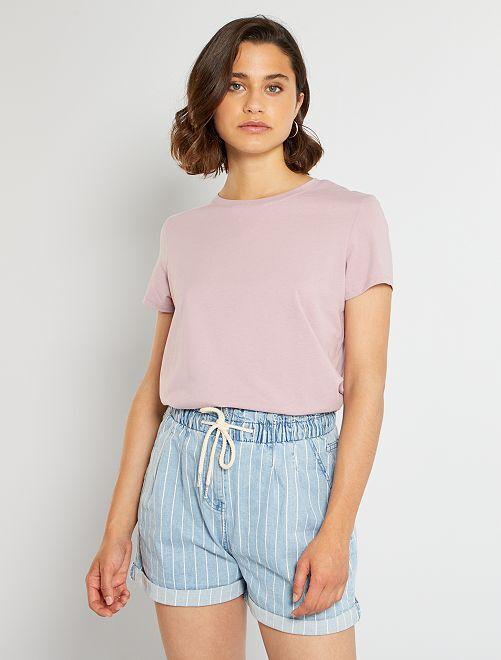 Ecologisch ontworpen T-shirt                                                                                                                                                     roze