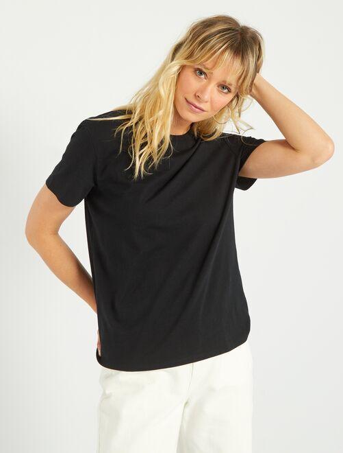 Ecologisch ontworpen T-shirt                                                                                                                                         zwart