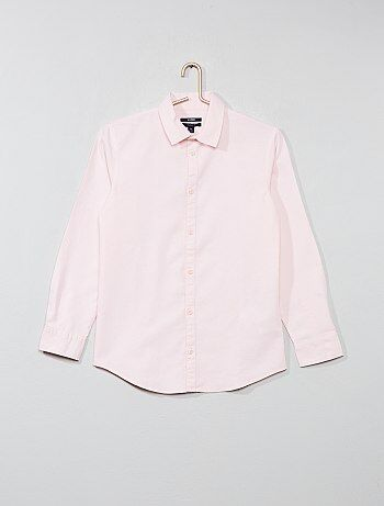 79a6769dd2b Jongenskleding 10-18 jaar - Effen katoenen blouse - Kiabi