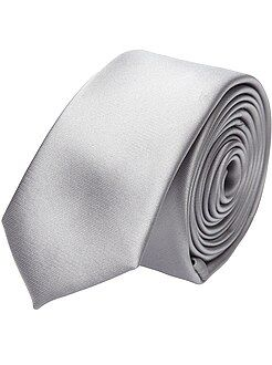 Effen satijnen stropdas