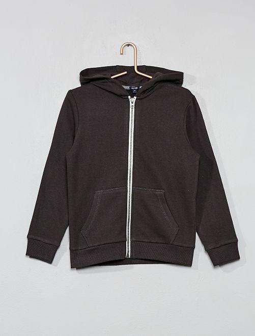 Effen sweater met rits                                                                                                     donkergrijs