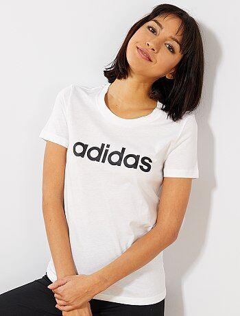 c7296f4861a Damesmode maat 34-48 - Effen T-shirt met een 'Adidas' print