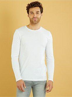 Effen T-shirt met lange mouwen