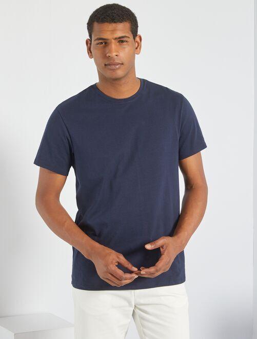 Effen T-shirt van tricot                                                                                                                 GRIJS