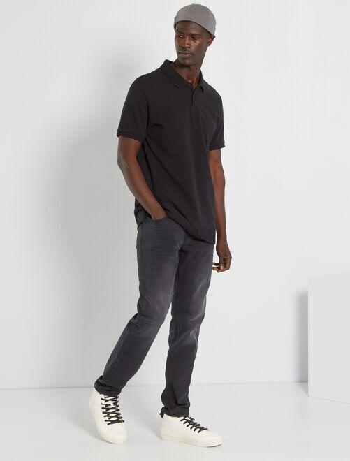 Effen trui met korte mouwen                                                                                                                 zwart