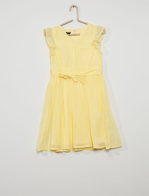 Feestelijk jurkje                                                                     geel