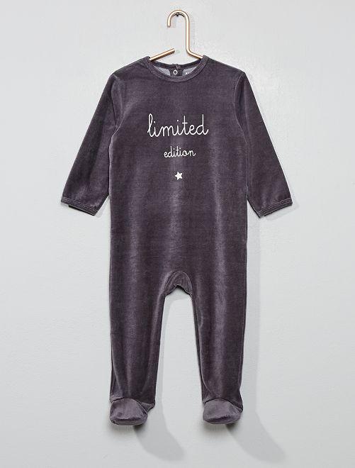 Fluwelen pyjama                                         GRIJS