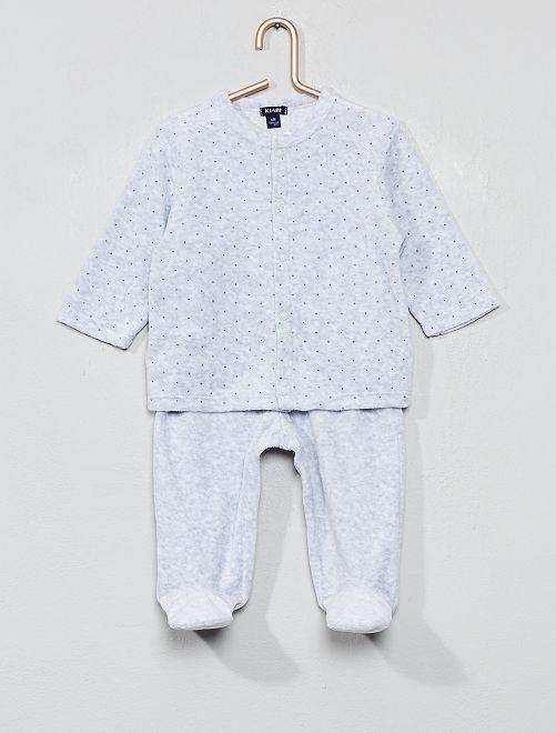a180891f235 Fluwelen pyjama van biologisch katoen Jongens babykleding - GRIJS ...