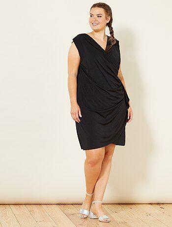 Gedrapeerde jurk met print - Kiabi