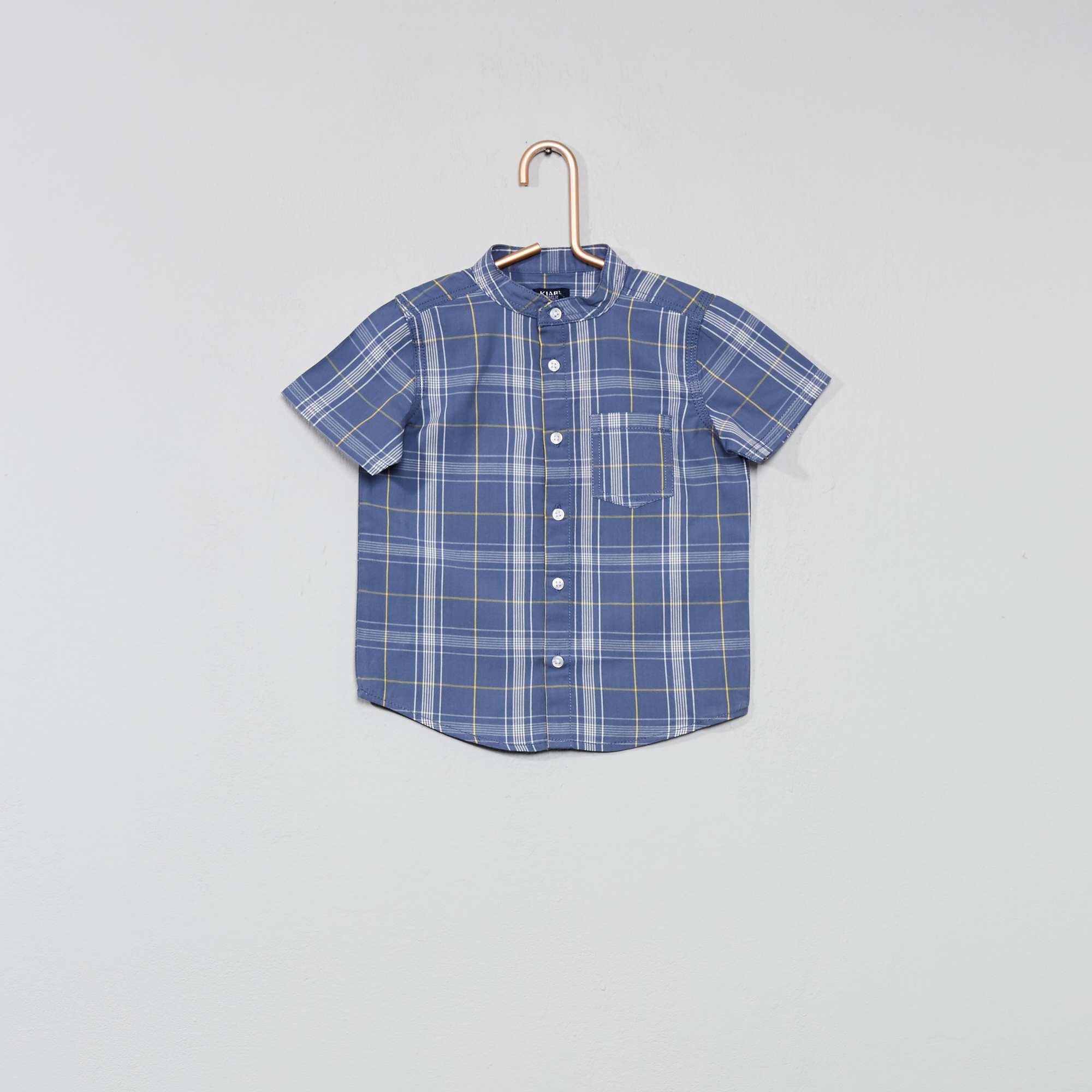 Overhemd Blauw.Geruit Overhemd Jongens Babykleding Blauw Kiabi 7 00
