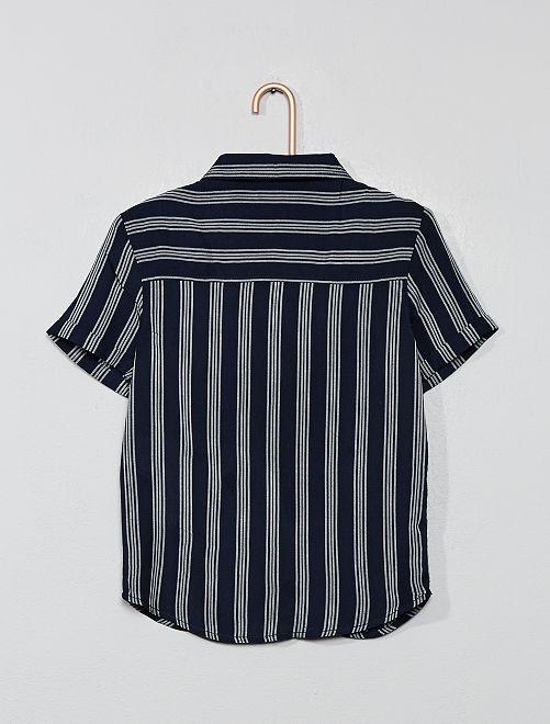 Gestreept Overhemd.Gestreept Overhemd Kinderkleding Jongens Blauw Kiabi 9 00