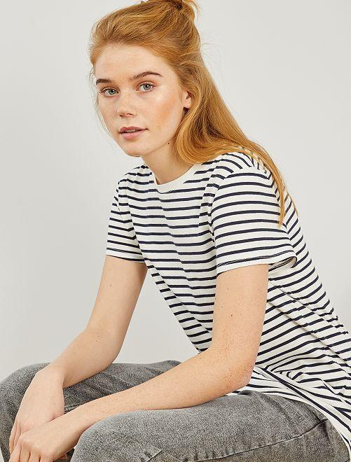 Gestreept T-shirt 'Ecodesign'                                                                                                                                                                                                                                                                                                     WIT strepen