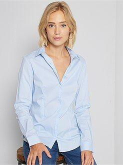 Getailleerde blouse van stretch katoen