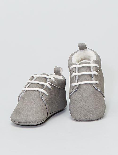 Gevoerde laarzen                             grijs