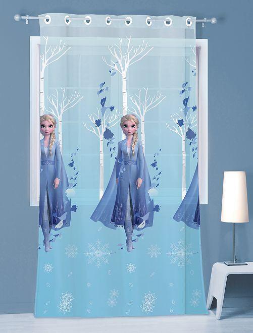 Glasgordijn van 'Frozen' 140 x 240 cm                             BLAUW