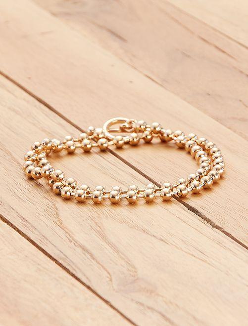 Goudkleurig kort halssnoer                             goudkleur