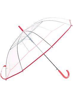 Grote, transparante paraplu