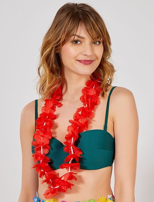 Hawaïaanse ketting accessoire                                                                                                                 rood Accessoires