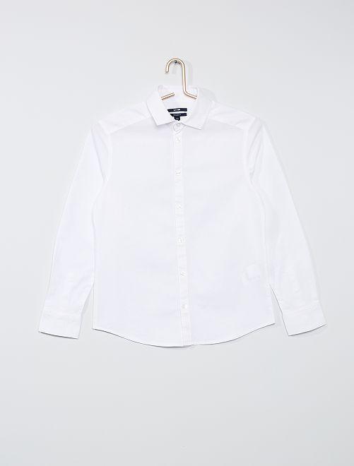 Hemd van Oxford-katoen                             wit