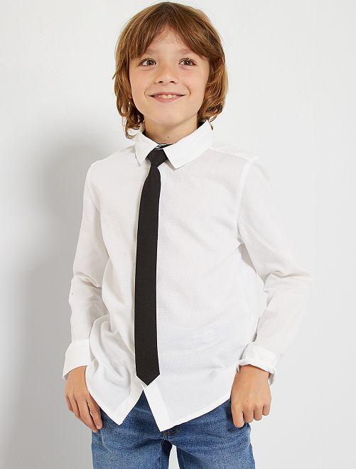 Hemdje met stropdas                                         wit