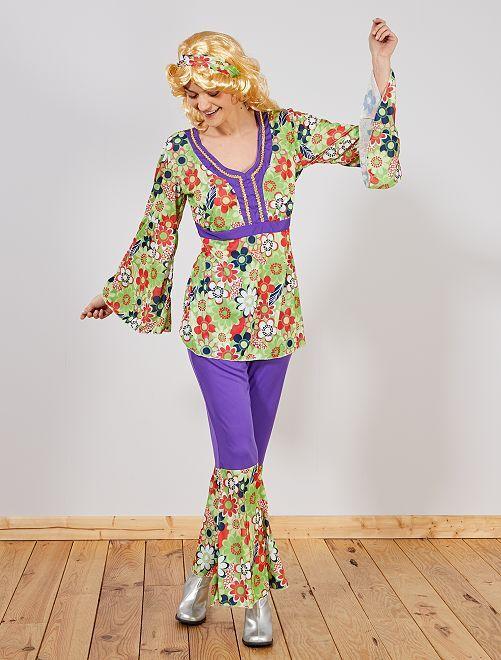 Hippie kostuum                             groen Dames