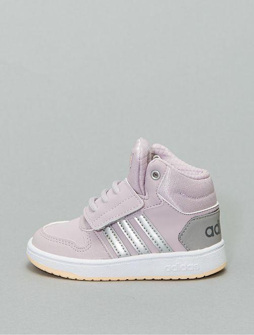 Hoge 'Adidas hoops'-sneakers met klittenband                             ROSE