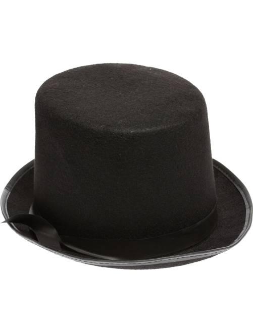 Hoge, effen hoed                             zwart