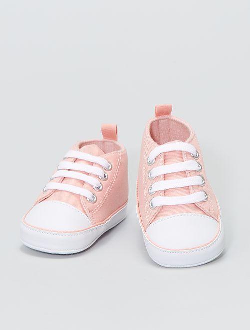 Hoge stoffen sneakers                                                                                                     ROSE