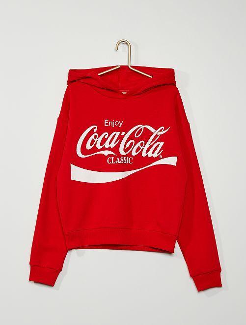 Hoodie 'Coca Cola'                             rood
