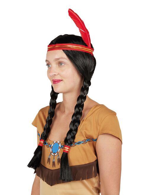 Indianenpruik                             zwart / rood