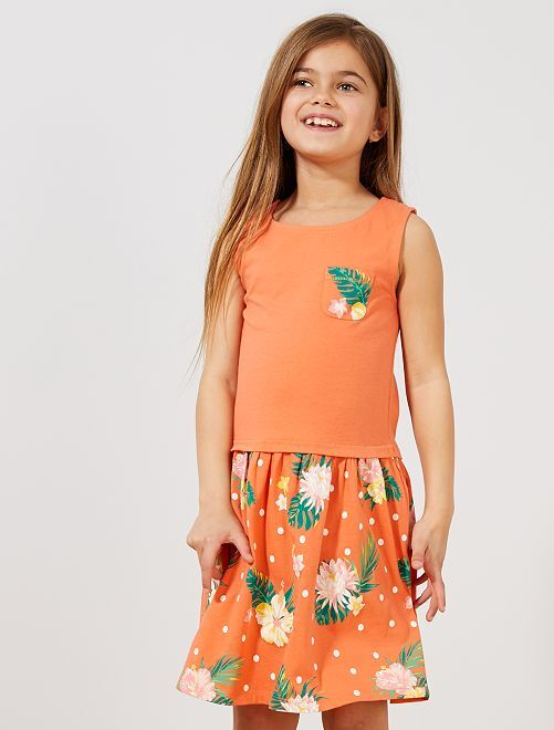 31a3849c02fd1e Jurk van biologisch katoen Kinderkleding meisjes - roze gestreept ...