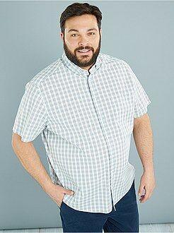 Overhemden - Katoenen overhemd recht model met print