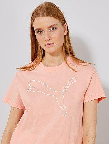 eddb69a1c84 Damesmode maat 34-48 - Kort T-shirt van 'Puma' - Kiabi